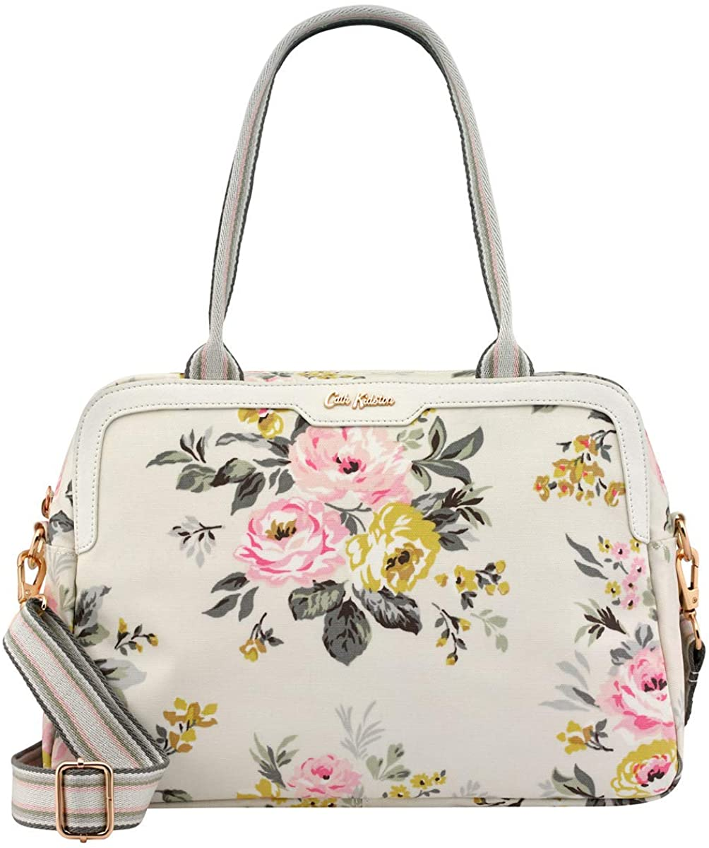 Cath Kidston Tote Bunch | Women's Samson Floral Printed Embroidered Shoulder Bag | Female's Imported Tote Bags | Stylish & Fashionable European Style | Teenage Girls Vintage Durable Tote (Stone)  Clothing
