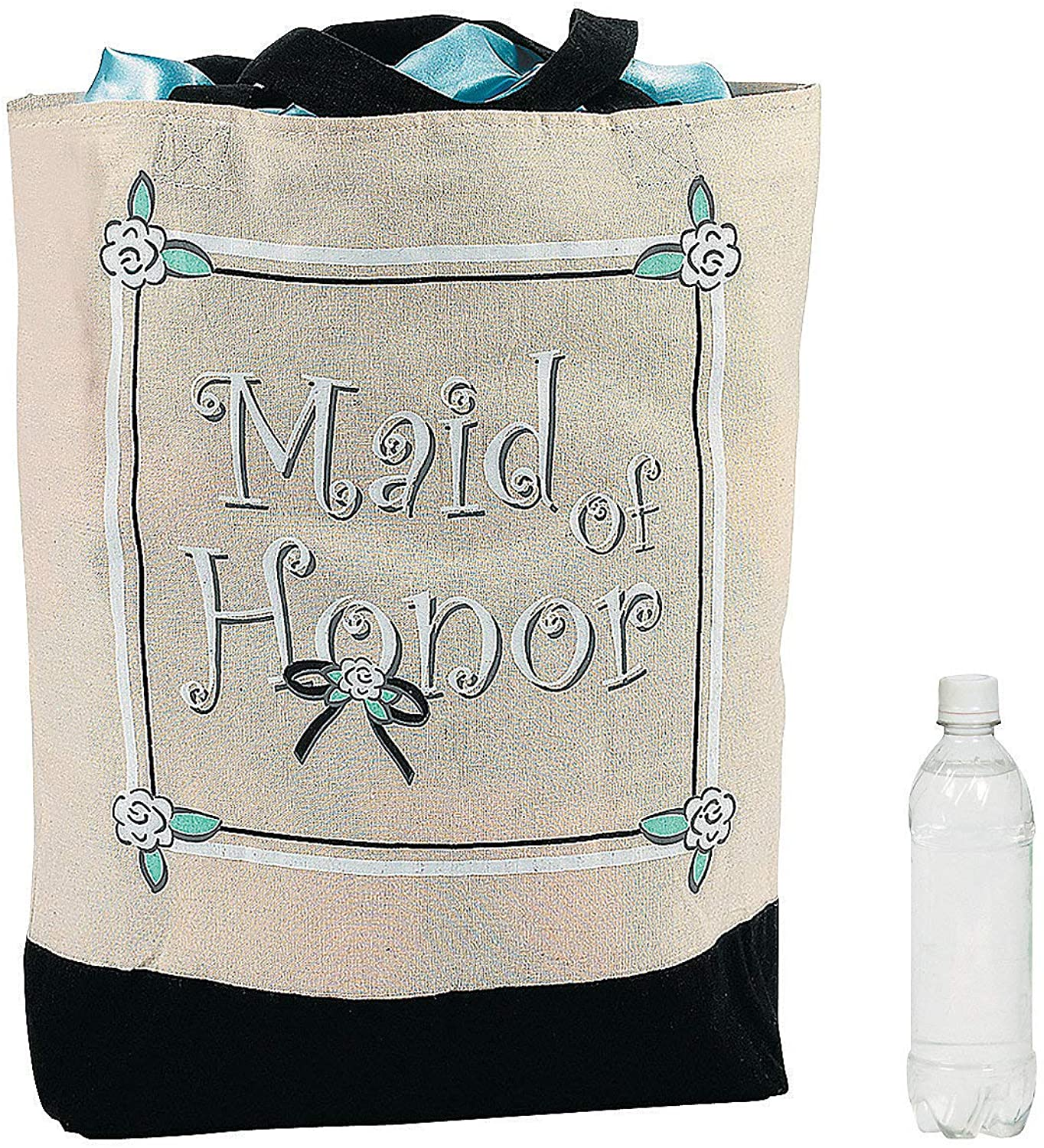 Fun Express - (XL Maid of Honor Tote Bag for Wedding - Apparel Accessories - Totes - Novelty Totes - Wedding - 1 Piece  Clothing