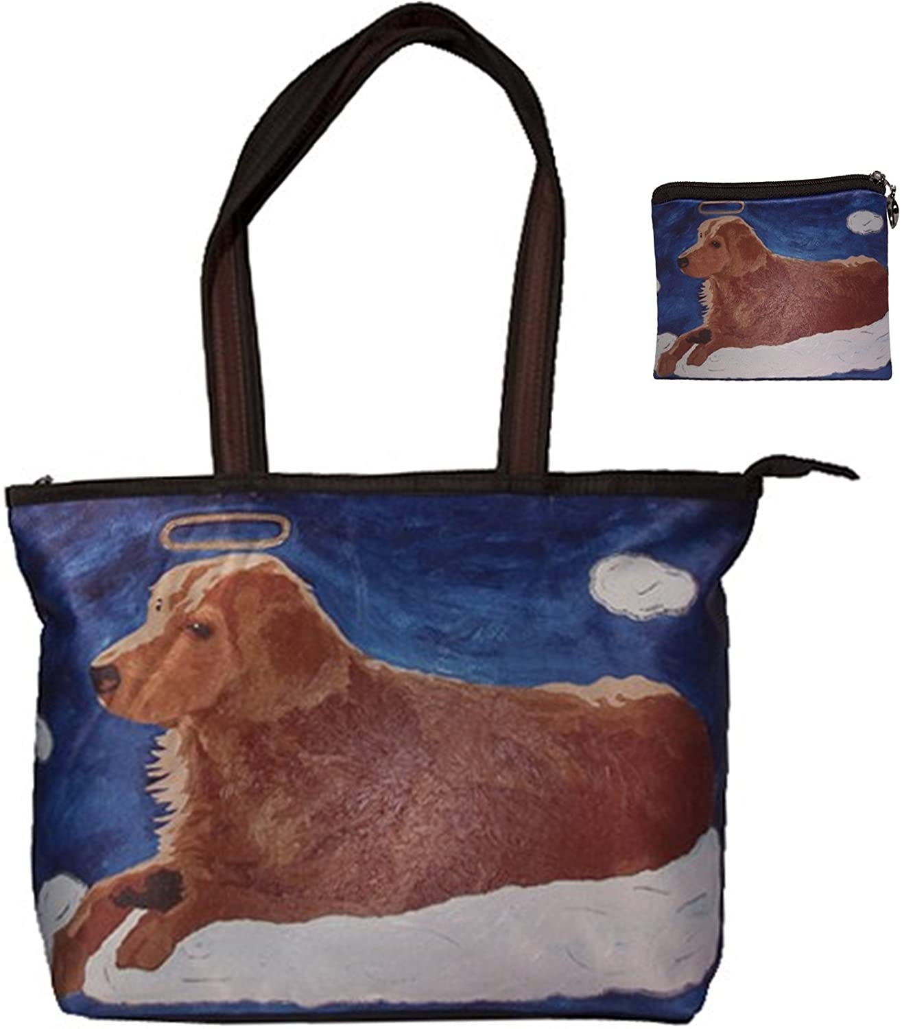 Dog Angel Gift Set - Shoulder Bag and Matching Coin Purse- Great Hoilday Set - From My Original Painting, Ginger  Clothing