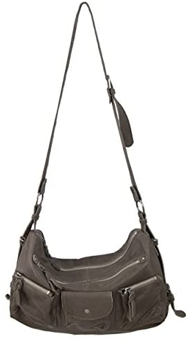Lush Leather Washed Multi Functional Adjustable Taupe Grey Bag  Handbags