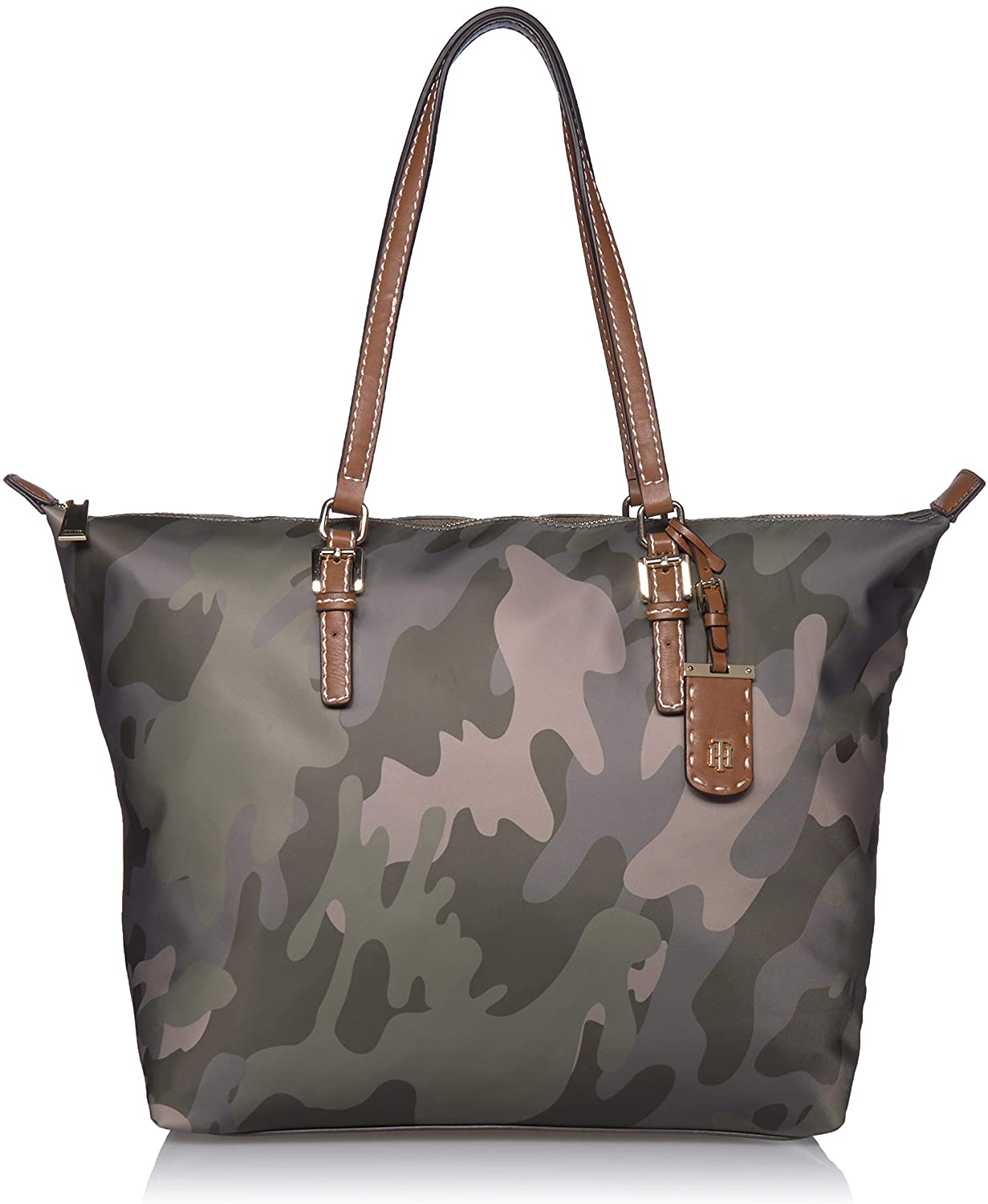 Tommy Hilfiger Julia Zippered Tote, Green  Clothing