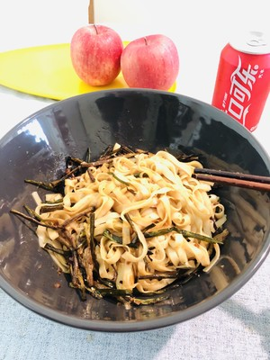 油性の練習対策 クイックワーカーグリーンの醤油を添えた麺5