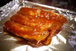焼きたての甘い豚のcost骨部が排出される5